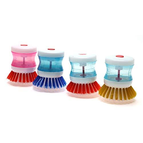 djryj eersteklas Schaal Borstel met Wassen Vloeibare Zeep Dispenser Keuken Gebruiksvoorwerp Pot Clean Borstel voor Home Decoration