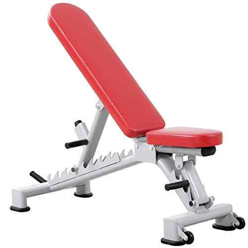 WDXLT Fitnessbank,Professionelle Multifunktions Hantelbänke,Kommerziell Aktualisiert Pressebank,Gewichtheben Sit-ups Flachbank