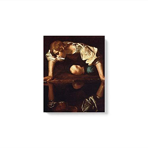 Drucken Ohne Gerahmte Malfläche Farbfigur Bild Drucken Flur Hd Gedruckt Abstrakt Leinwand Home Decoration Wandkunst Poster Meisterwerk Von Narcissus Caravaggio Wandkunst Leinwanddruck Für Kind
