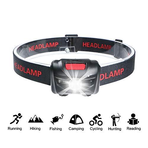 Lampe frontale à LED, Q5 LED 3 modes Smart Sensor Head Lampe torche alimentée par piles pour l'extérieur, camping, chasse, randonnée, marche