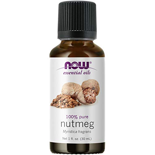 NOW Essential Oils, Nutmeg Oil, Energizing Aromatherapy Scent, Steam Distilled, 100% Pure, Vegan, Child Resistant Cap, 1-Ounce