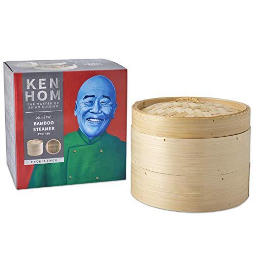 Ken Hom 20 cm Bamboo Steamer 2-Tier Excellence