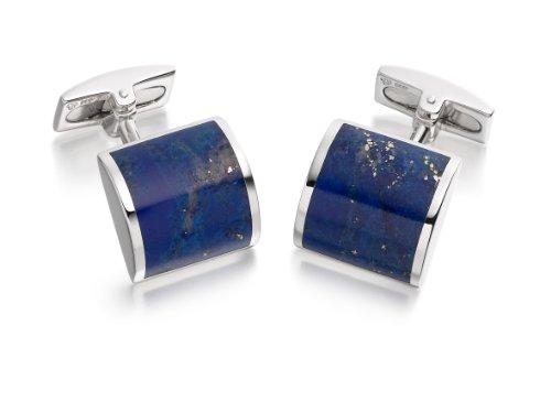 HOXTON LONDON - 0.74.1482 - Boutons de Manchette Homme - Argent 925/1000 15.0 GR - Lapis-Lazuli
