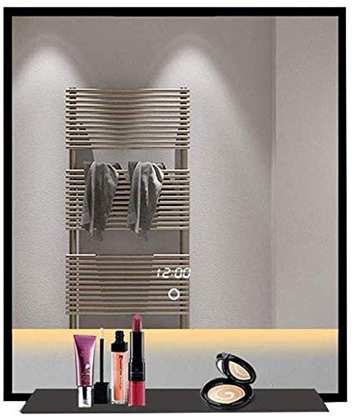 時代遅れ天使テントZS 家庭用品& ミラースマート浴室の壁のMoun LED照明、メイクアップ防爆ミラー(色:ウォームライト、サイズ:80 * 130センチメートル) (Color : White Light, Size : 50*70CM)