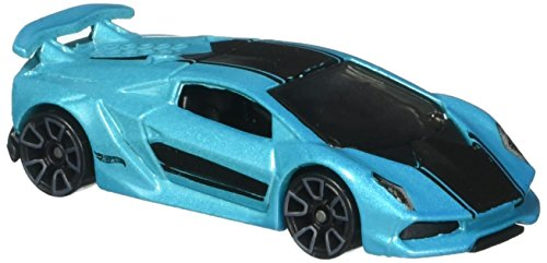 Hot Wheels, 2016 HW Exotics, Lamborghini Sesto Elemento [Aqua] Die-Cast Vehicle #80/250 by Hot Wheels