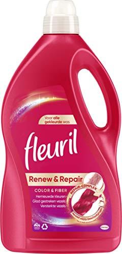 Fleuril Color & Fiber, Vloeibaar Wasmiddel, Gekleurde en Bonte Was, 65 Wasbeurten