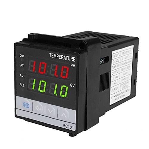 Controlador de temperatura Relé Control de temperatura Instrumento SSR Salida PID Termostato para el horno de preparación del hogar Controlador de termostato Blackdigital Controlador de