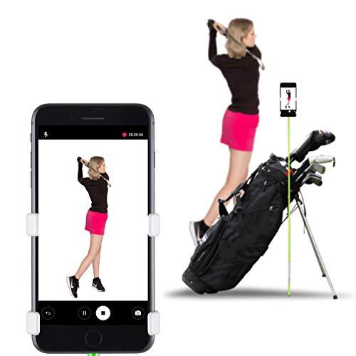 SelfieGOLF Record Golf Swing - Porta Clips para Celular y Ayuda para Entrenamiento - Accesorios de Golf, Funciona con Cualquier Teléfono Inteligente, Configuración Rápida