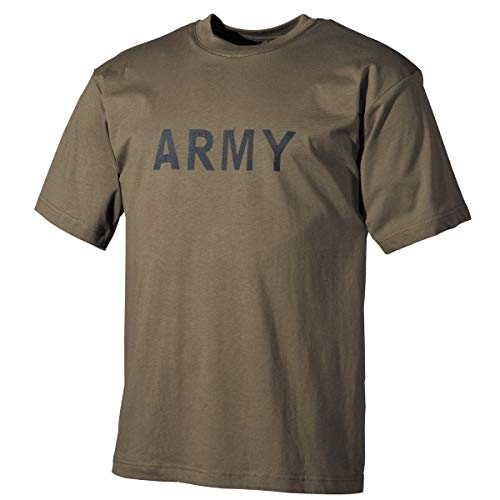 MFH 00253B US T-Shirt mit Aufdruck Army (Oliv/S)