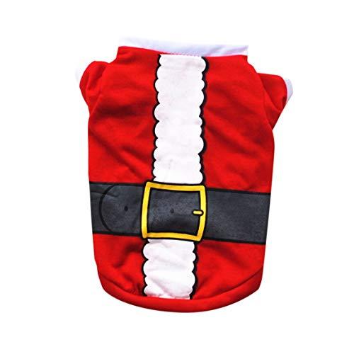Funnyrunstore Navidad Ropa para Mascotas Camiseta Linda para Perros Camisa de Mezcla de algodón Suave de Manga...