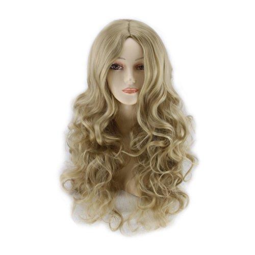 Perruque,Deesos Wig Women's Long Curly Fancy Dress Wigs Blonde Cosplay Costume Ladies Perruque