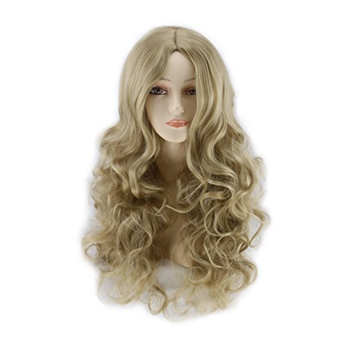 Perruque,Deesos Wig Women's Long Curly Fancy Dress Wigs Blonde Cosplay Costume Ladies Perruque