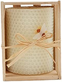 Green Pastures Wholesale Beeswax White Pillar Candle, 3-Inch by 4-Inch