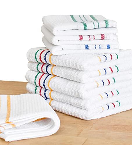 Pack de 9 paños de cocina, trapo de limpieza para el hogar 100% Algodón. Toalla de tela para limpieza de salón, baño, y cocina. Paño...