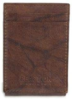 Kenneth Cole REACTION Men's RFID Leather Front Pocket Wallet with Magnetic Money Clip