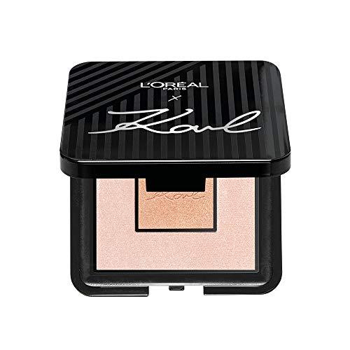 L'Oréal Paris Karl Lagerfeld Highlighter Palette, Palette mit zwei Puder-Nuancen zum Highlighten des Gesichts aus der exklusiven Karl Lagerfeld Kollektion, limitiert, 5 ml