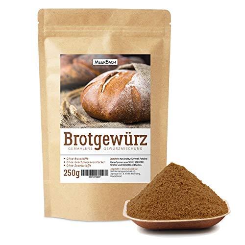 Brotgewürz bayerische Art • 250g Brotgewürzmischung mit Kümmel, Fenchel und Koriander • herzhafte Gewürzmischung für Brot • Naturprodukt • ohne Salz und künstliche Zusätze