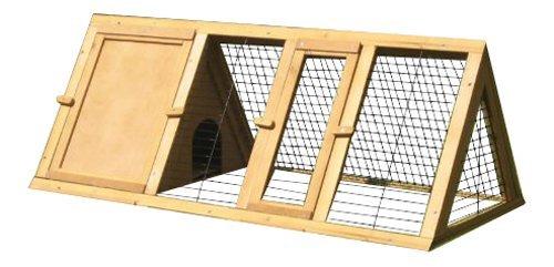 BUNNY BUSINESS Spitzer Laufstall mit Gehäuse, für Kaninchen°/°Meerschweinchen, 1,20°m