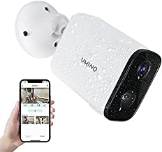 Security Camera Wireless Outdoor,1080P WiFi Cordless Surveillance Camera with PIR Motion Detection-Night Vision-Siren Alarm-2 Way Audio,Wireless Cameras with app