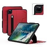 ZUGU iPad Pro 11 Hülle 2021 / 2020 Gen. 3 / 2 schlanke Schutzhülle 8 Winkel-Ständer magnetisch, Aufladen iPad Stiftes Auto Sleep/Wake Up [iPadPro 11 Rot]