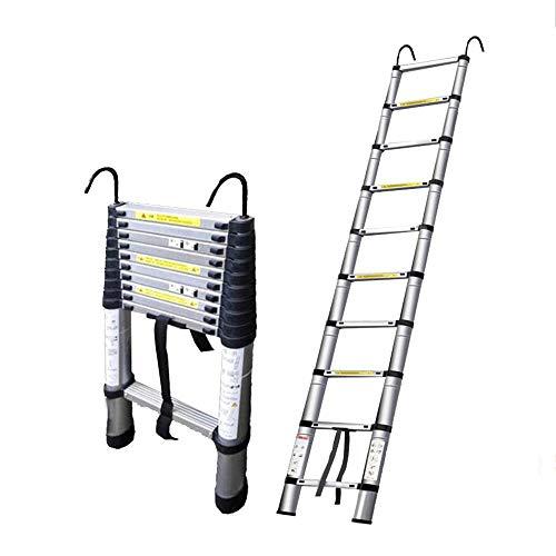 Uitbreiding ladder DD Telescopische Uitschuifbare Ladder 2M-7M Telescopische Rechte Ladder Vouwen Zolder Huishoudelijke Aluminium Met Haak