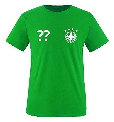 Trikot - DE - WUNSCHDRUCK - Kinder T-Shirt - Grün/Weiss Gr. 134-146