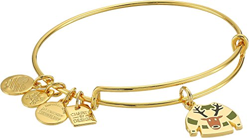 Alex and Ani Charity by Design Ugly Sweater Bangle Shiny Gold One Size