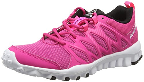 Reebok Damen Realflex Trainer 4.0 Hallenschuhe, Pink (Rose Rage/Poison Pink/White/Black), 37 EU