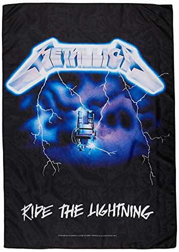 Heart Rock Bandiera Originale Metallica Ride The Lightning, Tessuto, Multicolore, 110x75x0.1 cm