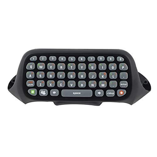 CamKpell Mini-Tastatur, kabellos, Text, Tastatur, Messenger, 47 Tasten, Chatpad, Tastatur für Xbox 360, Gaming-Controller, Schwarz