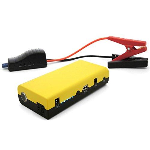 I-STARTER 2.6 INTEC. Avviatore Litio 15000 mAh d'emergenza per vetture, suv e fuoristrada, caricabatteria per tutti i cellulari (attacchi standard Micro-USB, Apple 1° e 2° generazione), tablet e laptop. Uscite USB 5V da 1A e 2A: per tutti i dispositivi elettronici con batterie ricaricabili (macchine fotografiche, Go-Pro, etc). Oltre alla dotazione per l'alimentazione di notebooks a 19V, l'unità è dotata di una presa 12V 10A per l'alimentazione piccoli dispositivi quali ventilatori, navigatori satellitari, etc.