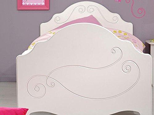 Kinderbett Anne 3, 90x200cm, weiß lackiert, mit Nachttisch und Bettkasten, Kinderzimmer - 4