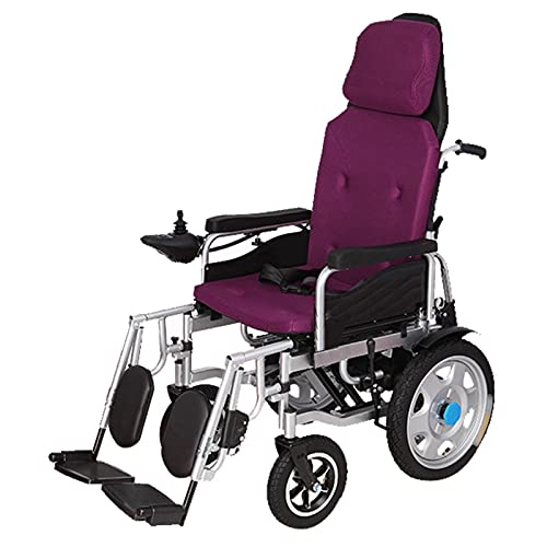 LFLLFLLFL Elektrorollstuhl, Faltbarer Rollstuhl Luxus-Elektrischer Rollstuhl, Großer Rollstuhl, 360 ° Controller, Multi-Gelände, Atmungsaktives Kissen, Rückenlehne