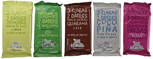 Barritas Proteicas Paleo 100% naturales - Altas en Proteína - Pack Ahorro 5 sabores (15x55g)