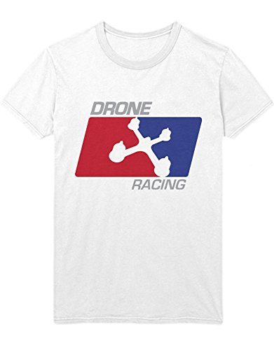 T-Shirt Drones Drone Racing NBA Style H970041 Weiß L