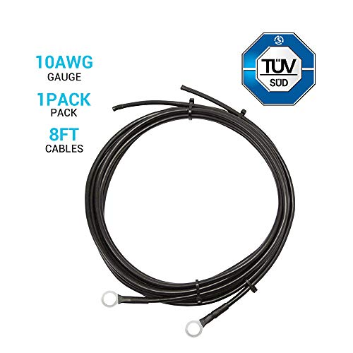 RENOGY 8ft. 10 AWG Wire Copper Tray Cable - Connect Charge Controller and Battery