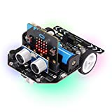 Freenove Micro:Rover Kit for BBC Micro:bit (V2 Contained), Obstacle Avoidance, Light-tracing, Line-Tracking, Remote Control, Playing Melody, Colorful Lights, Rich Projects, Blocks and Python Code