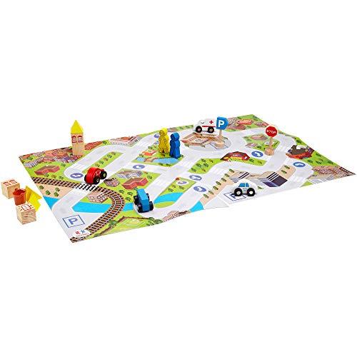 Globo Toys Globo 36890 legnoland City Set van hout met kaart (15)