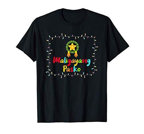 Maligayang Pasko Parol Light Filipino Christmas T-Shirt