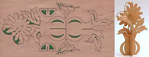 Grußkarte Puzzlekarte Blumenvase