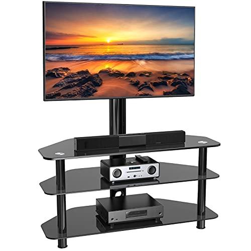 Swivel Floor TV Stand/Base for 32-65 Inch TVs-Universal Corner TV...