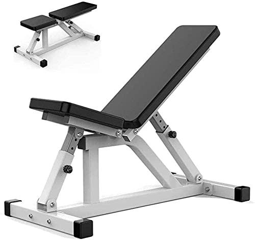 Byakns Banco de mancuerna multifuncional profesional de aptitud profesional Tablero de músculo abdominal Cama de pesas Comercial Lecho de pesas Cama Sit-ups Equipo de fitness Ajuste de 7 velocidades p