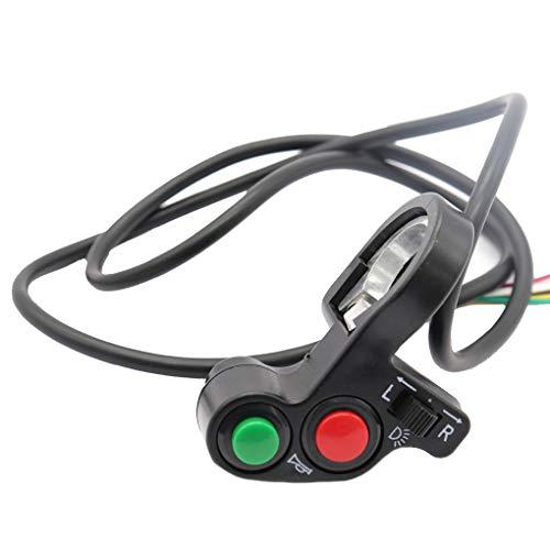 3-in-1 motorfiets koplamp richtingaanwijzer claxon aan-uit schakelaar 12V motor scooter schakelaar
