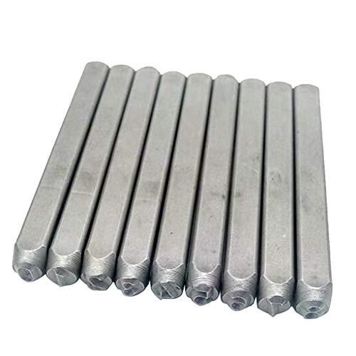 Preisvergleich Produktbild 9pcs Briefmarken Handwerk Werkzeugkasten Set aus legierter Werkzeugstahl Metall,  0-8 - 6 mm