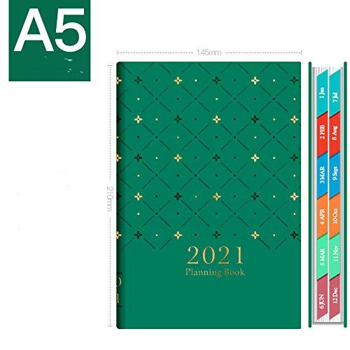 BAIMENG Das Kalenderbuch 2021 täglich einseitiger Kalenderplan Dieses Zeitmanagement...