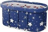 NaoSIn-Ni Bañera plegable de plástico grueso - Bañera portátil no inflable PVC/SPA Bañera plegable para el hogar Cubo de baño independiente para adultos
