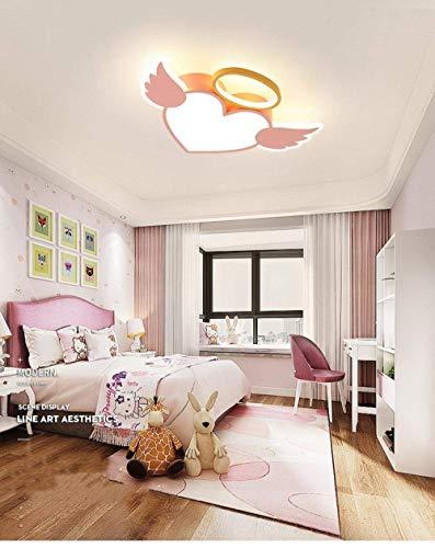 WEM - Lámpara decorativa de techo, 60 cm, creativa, diseño de ángel con ángel