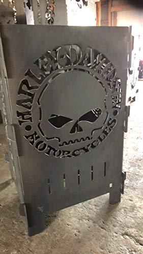 Deko Rustikal Feuertonne - Feuerkorb - Brenntonne Biker Garten - Gestaltung