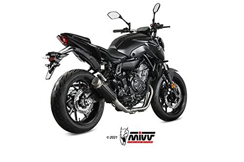 Tubo de escape completo Mivv compatible con Yamaha MT-07 FZ-07 2021   GPpro Black Alto