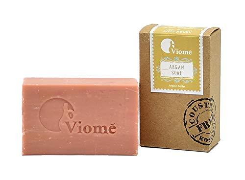 Viomé | Argan Seife, 100% vegan, natürliche Seife, ohne Palmöl, handgemacht | 125g